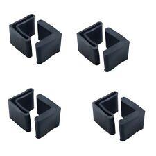 "Flyshop Bed Frame End Caps Angle Iron Leg Black Rubber Foot Covers 1.6"" 16 Pcs"