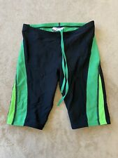 Speedo Endurance Men's Size 26 Jammers Swim Shorts Black & Green