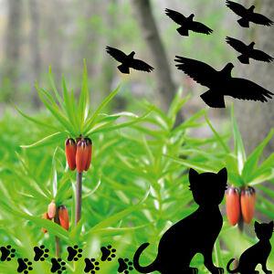 Set Warnvögel Katze Pfötchen Fenster Scheibe Vogel Schutz Deko Folie Aufkleber
