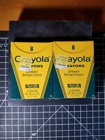 Crayola Crayons 2 Pack's of #8 Vintage binney & Smith 1985 New Old Stock! NEW!!!