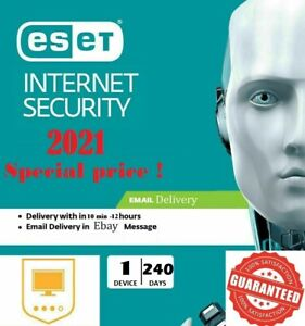 ESET NOD32 Internet Security 1PC, 1🔑x240 days - global 2021 (description!)