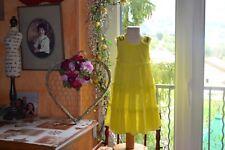 robe  lili gaufrette 2 ans jaune haut strass lumineuse tres belle