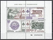 Spanien Block 24 postfrisch Post und Fernmeldemuseum in Madrid