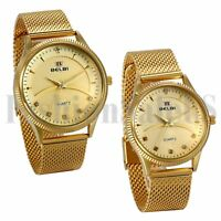 Luxury Stainless Steel His and Hers Lovers Quartz Analog Sports Couple Watch New