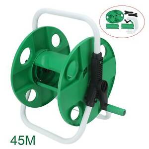 Portable Wall Mounted Water Hose Reel Free Standing Garden Pipe Holder Anti-Rust