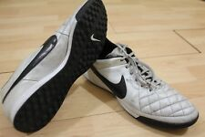 NIKE TIEMPO Black & White Indoor Soccer Shoes SZ 13