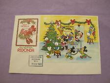 Redonda First Day Cover - Walt Disney's Deck The Halls Christmas