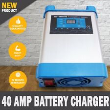 NEW 7 Stage 40 AMP Automatic Caravan Battery Charger 40 to 400Ah Fully Automatic