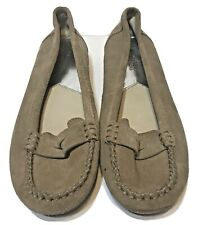 Michael Kors Womens Tan Suede Flats Penny Loafers Shoes Size 7M