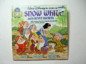1970's Walt Disney's Snow White and the Seven Dwarfs Children's Record and Book