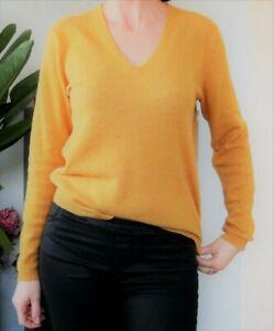Cachemire Monoprix jaune moutarde taille 1
