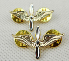 One Pair Of US U.S. Army Aviation Branch Collar Badges Pin Insignia