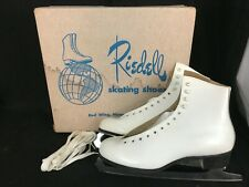 Vintage Womens Riedell Skating Shoes White Figure Skates Size 10 Nos?