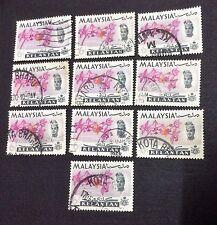 Malaysia 1965 Kelantan Orchids Definitive 6c x 10pcs Used