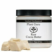 100% Raw Cocoa / Cacao Butter PURE PRIME PRESSED  Unrefined Natural 8 oz Organic