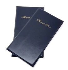 2 x Guest Check, Credit Card, Receipt Folder, Black Leather