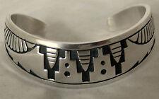 Robert Johnson Sterling Silver Motif Overlay Bracelet USA Navajo