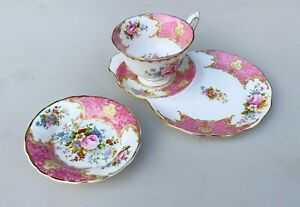 Vintage Royal Albert Lady Carlyle Tea Cup Tennis Set & Spare Saucer