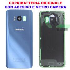 Copribatteria Back Cover Originale Samsung S8 G950 Coral Blue Blu SM Vetro G950F