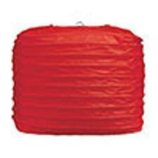 "2 red paper square lanterns 8"" wedding party decorations"