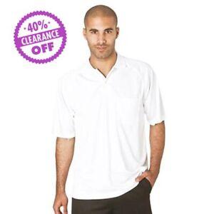 Mens Gents Sports Polo Shirt 100% Polyester Golf Bowls Lawn Bowling
