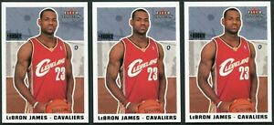 2003-04 FLEER TRADITION LEBRON JAMES #261 RC ROOKIE CARD INVESTMENT LOT OF 3 WOW