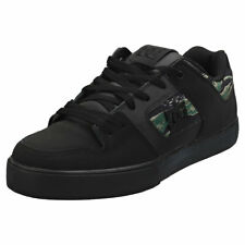 DC Shoes Pure Se Mens Black Suede & Synthetic Skate Trainers