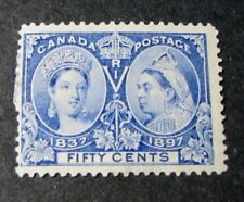 "Canada Scott# 60 Jubilee Issue Queen Victoria ""1837 & ""1897""  MH 1897 C453"