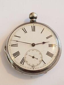 Vintage  Solid Silver Cased Pocket Watch