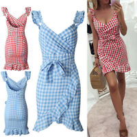 Boho Women Summer Short Dress Sleeveless Mini Sundress Party Dresses Fashion