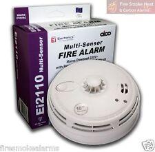 NEW AICO Ei2110 Ei Professional Lithium Multi Sensor HEAT & SMOKE FIRE ALARM