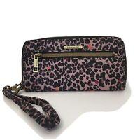 Travelon Wallet Wristlet Clutch Card Holder RFID Blocking Safe ID Cheetah Animal