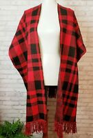 Kori America duster kimono topper red and black knit with tags