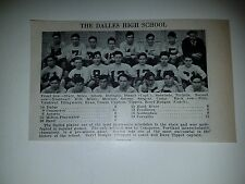 The Dalles & Ione  Oregon High School 1930 Football Team Picture