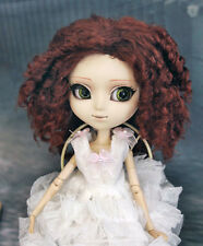 "1/3 bjd 9-10"" doll reddish brown curly wig Pullip Taeyang Soom ID W-184XL"