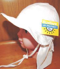 UVSchutz KU43,44,45,46,48 NACKENSCHUTZ Sommer Sonnen Hut BABY Mädchen Junge weiß