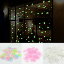 Christmas 3D Luminous Glow in the Dark Snowflake Wall Stickers Xmas Party Decor