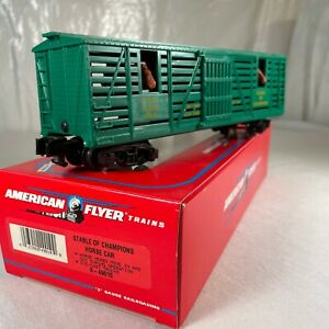 American Flyer 6-49010 S Scale Stable of Champions Horse Car LN
