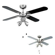 MiniSun  42 inch Modern Ceiling Fan with Spot Lights - Black/Silver