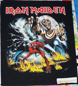iron maiden, the number of the beast design, large back patch 2011 official used