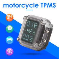 Waterproof Motorcycle TPMS LCD Tire Pressure Monitoring System + External Sensor
