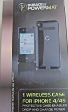 New in Box Duracell PowerMat Black Case Wireless Charging fits iPhone 4/4s