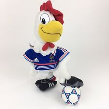 F.F.F. Rooster Plush Soccer Mascot Peluche Jules France Adidas World Cup 16""