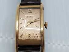 SOLID 18K YELLOW GOLD ROLEX VICEROY PRINCE TANK WATCH RUNNING NR!!