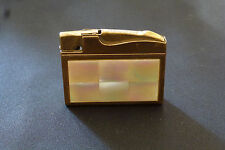 Flint Cigarette Lighter - Elgin Mosaic Mother of Pearl - Vintage