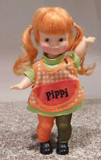 """1972  Horsman & Astrid Lindren Pippi Longstocking Vinyl 11"""" Doll"""