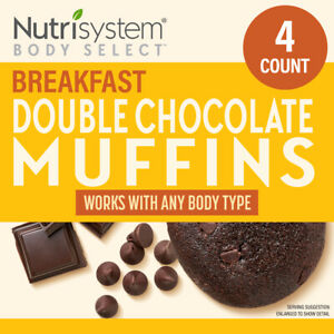 Nutrisystem Double Chocolate Breakfast Muffins 4 Count Delicious Pastries