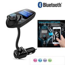 T10 1.44 Screen LCD Wireless FM Transmitter Handsfree Bluetooth Kit USB Charger