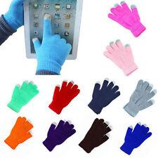 Touch Screen Gloves Women/Men Knitted Wool Hand Wrist Warmer Fingerless Winter