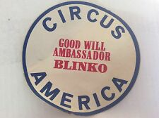 CIRCUS AMERICA GOOD WIIL AMBASSADOR BLINKO THE CLOWN STICKER OLD